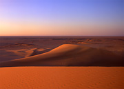 sunrise, Sahara sand dunes